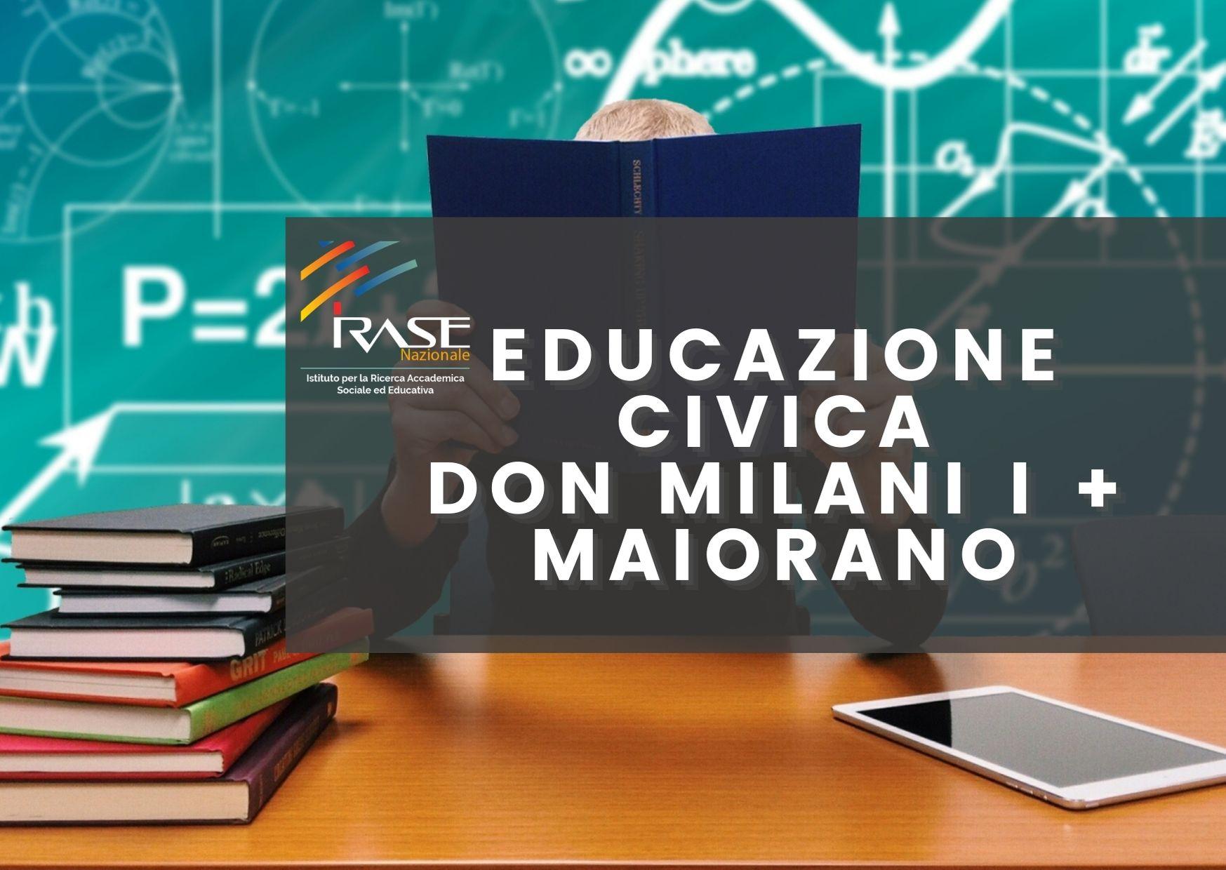 """CORSO EDUCAZIONE CIVICA IC """"DON MILANI UNO + MAIORANO"""" MANFREDONIA"""