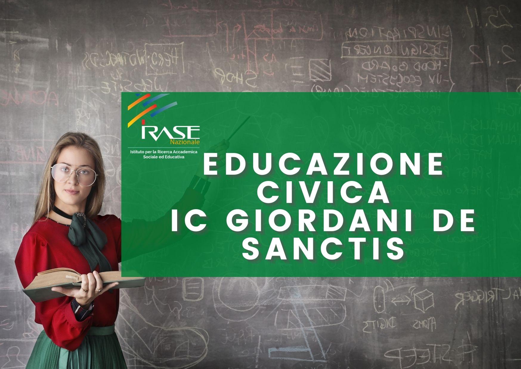 """CORSO EDUCAZIONE CIVICA IC """"GIORDANI – DE SANCTIS"""" MANFREDONIA"""