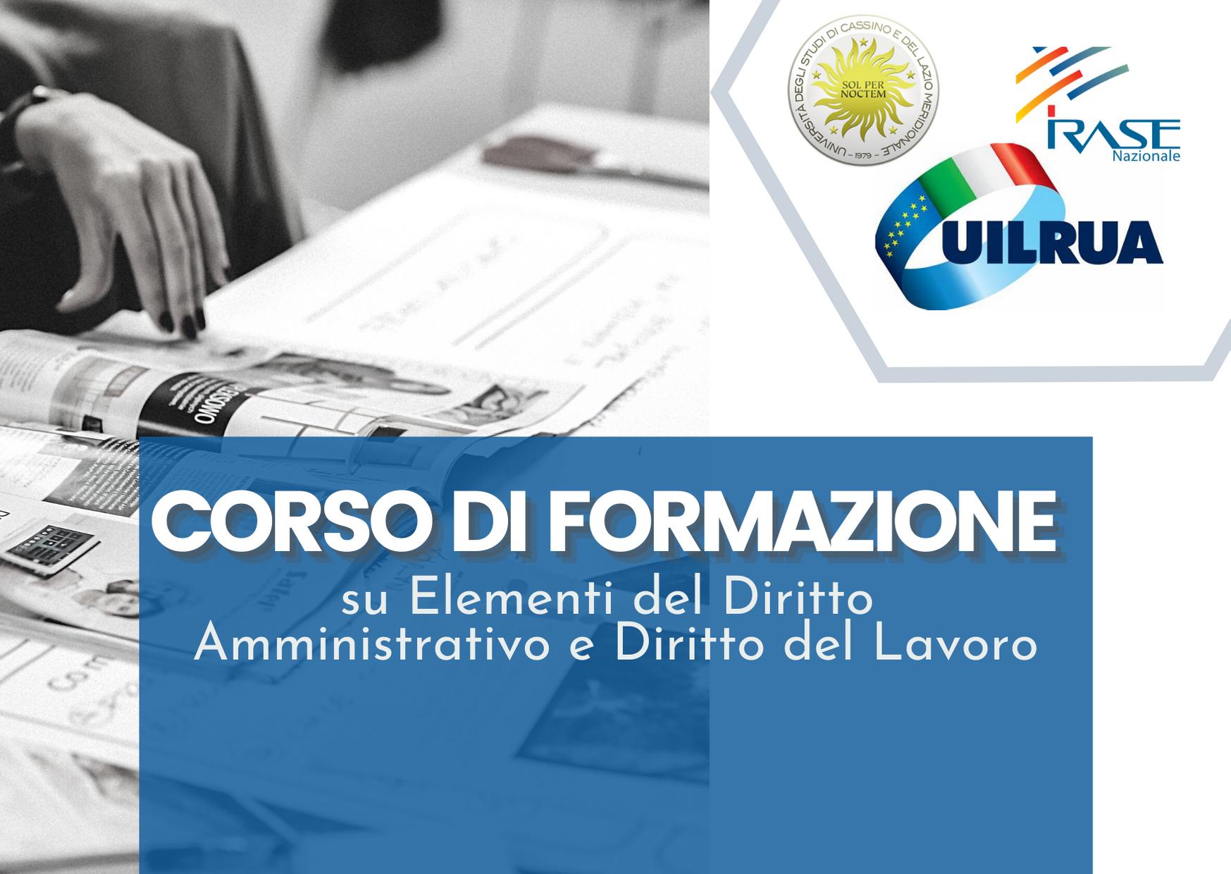 Corso di Formazione su Elementi del Diritto Amministrativo e Diritto del Lavoro